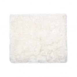 Biely koberec z ovčej kožušiny Royal Dream Zealand, 130 x 150 cm