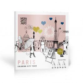 Omalovánky so samolepkami Mon Petit Art City Tour Paris