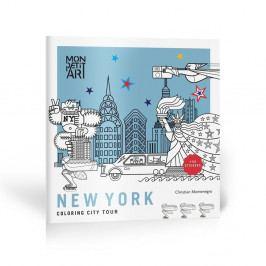 Omalovánky so samolepkami Mon Petit Art City Tour New York