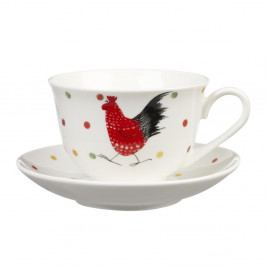 Hrnček z kostného porcelánu s tanierikom Churchill China Alex Clark Rooster, 200 ml