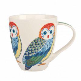 Hrnček z kostného porcelánu Churchill China Geometric Owl, 500 ml
