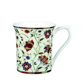 Sada 2 hrnčekov z kostného porcelánu s květinovým motilem Churchill China Hidden Indian Silk, 360 ml