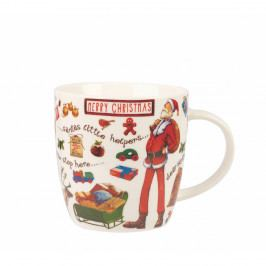 Hrnček z kostného porcelánu Churchill China At Your Leisure Merry Christmas, 400 ml