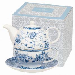 Hrnček s kanvičkou z kostného porcelánu Churchill China Blue Story