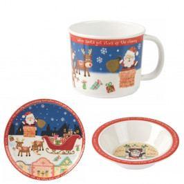 Detský jedálny set Churchill China Santa Got Stuck