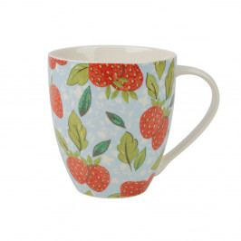 Modrý hrnček z kostného porcelánu Churchill China Caravan Strawberry, 500 ml