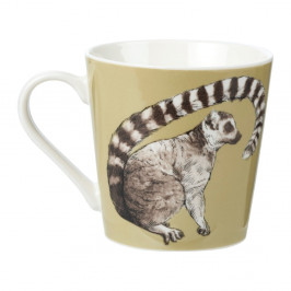Hrnček z kostného porcelánu Churchill China Couture Kingdom Lemur, 325 ml