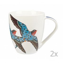 Sada 2 hrnčekov z kostného porcelánu Churchill China Paradise Swallow, 500 ml