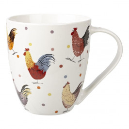 Hrnček z kostného porcelánu Churchill China Alex Clark Rooster Crush, 500 ml