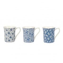 Sada 3 hrnčekov z kostného porcelánu Churchill China Blue Story Royale Cindy, 220 ml