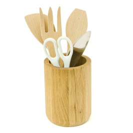 Stojan na kuchynské náčinie z dubového dreva Wireworks Utensils Pot