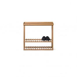 Polica na topánky/úložný stolík s prírodnou doskou z dubového dreva Wireworks Hello Storage