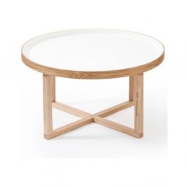 Okrúhly stolík s bielou doskou Wireworks Round