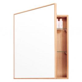 Nástenné zrkadlo s úložným priestorom z dubového dreva Mezza Wireworks, 45×55cm