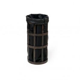 Čierny kôš na bielizeň s čiernym vakom Wireworks Cage