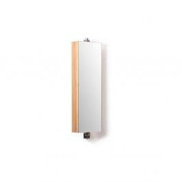 Bambusová kúpeľňová skrinka so zrkadlom Wireworks Domain Bamboo, výška 71cm