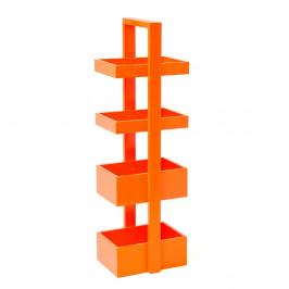 Oranžová polica z dubového dreva Wireworks Caddy