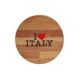 Doska na krájanie z bukového dreva Bisetti I Love Italy, 30cm