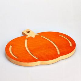 Buková doska na krájanie Bisetti Pumpkin, 31×27cm