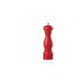 Červený mlynček na korenie z bukového dreva Bisetti Beech, 22 cm