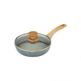 Panvica s pokrievkou a s rukoväťou s imitáciou dreva Bisetti Pierre Gourmet, ø 20 cm