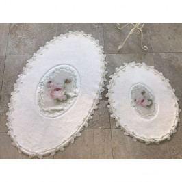 Sada 2 kúpeľňových predložiek Alessia Inci Oval Cream