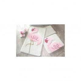 Sada 3 kúpeľňových predložiek Alessia Pink Flamingo