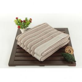 Sada dvoch uterákov s pruhovaným vzorom v sivej a krémovej farbe Nature Touch, 90 × 50 cm