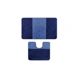 Sada 2 modrých kúpeľňových predložiek Bloom