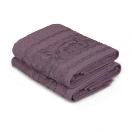 Sada 2 fialových uterákov Yosemine