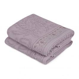 Sada 2 fialových uterákov na ruky Catherine