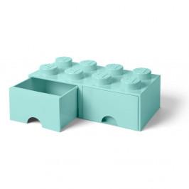 Mentolovozelený úložný box s dvoma zásuvkami LEGO®