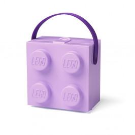 Fialový úložný box s rukoväťou LEGO®