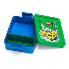 Modrý box na desiatu so zeleným vekom LEGO® Iconic