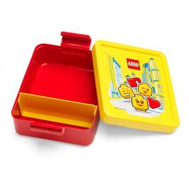 Červený box na desiatu so žltým vekom LEGO® Iconic