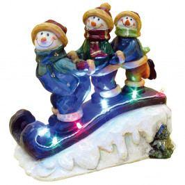Vianočná soška s LED svetielkami Naeve Snowmen