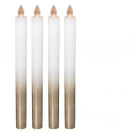 Sada 4 dekoratívnych sviečok Naeve, výška 25 cm