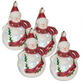 Sada 4 dekoratívnych sošiek v tvare snehuliaka Naeve, Ø 7 cm