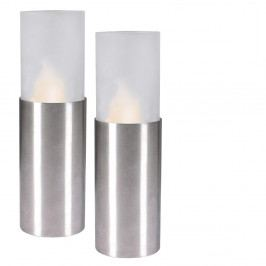 Sada 2 LED sviečok Naeve Chromatic, výška 17,5 cm