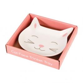 Ozdobný porcelánový tanierik Rex London Cat Face