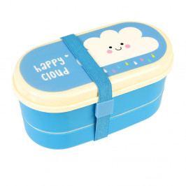 Dvojposchodová škatuľka na desiatu Rex London Happy Cloud