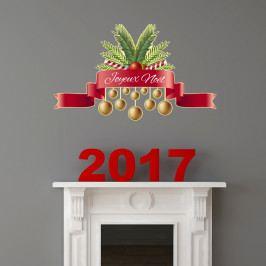 Vianočná samolepka Fanastick Joyeux Noel