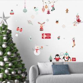 Sada vianočných samolepiek Ambiance Winter Party