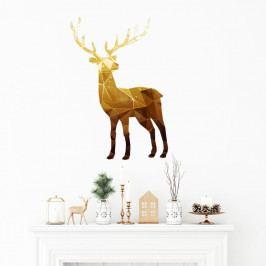 Vianočná samolepka Ambiance Deer Origami