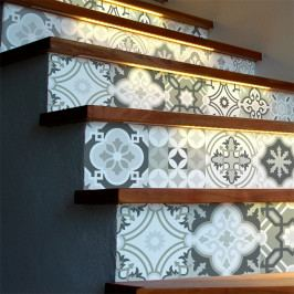 Sada 2 samolepe na schody Ambiance Oslo, 105×15 cm