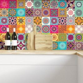 Sada 60 dekoratívnych samolepiek na stenu Ambiance Flow, 20×20 cm