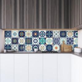 Sada 30 dekoratívnych samolepiek na stenu Ambiance Forli, 15×15 cm