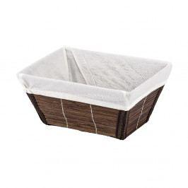 Hnedý bambusový košík Wenko Bamboo, šírka 19,5 cm