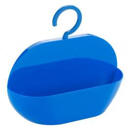 Modré úložné závesné vrecko do sprchy Wenko Cocktail