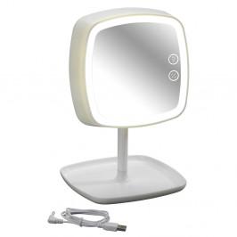 Biele stolové zrkadlo a lampička v jednom Wenko Cosmetic Mirror